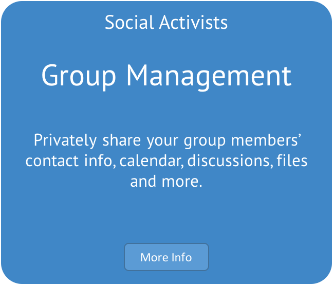 Social Activist Group Management